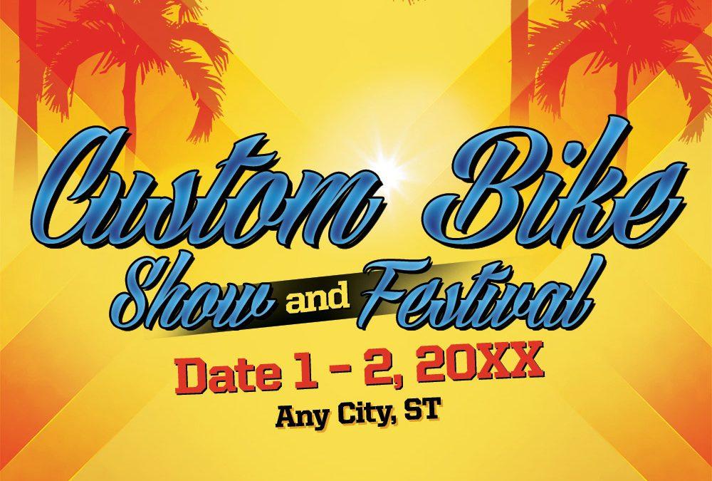 Event Headline, Flyer Design, Social Media image – Bikes At The Beach