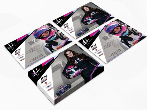 Race Car Driver Hero Card – Hanna Zellers – HZ Racing
