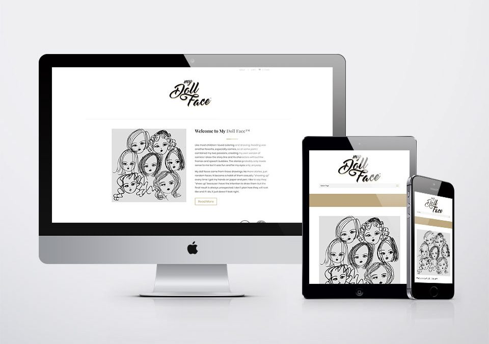 Branding, Website, Social Media – My Doll Face