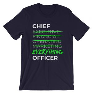 CEO: Chief Everything Officer t-shirt - front - Projekt Group Marketing