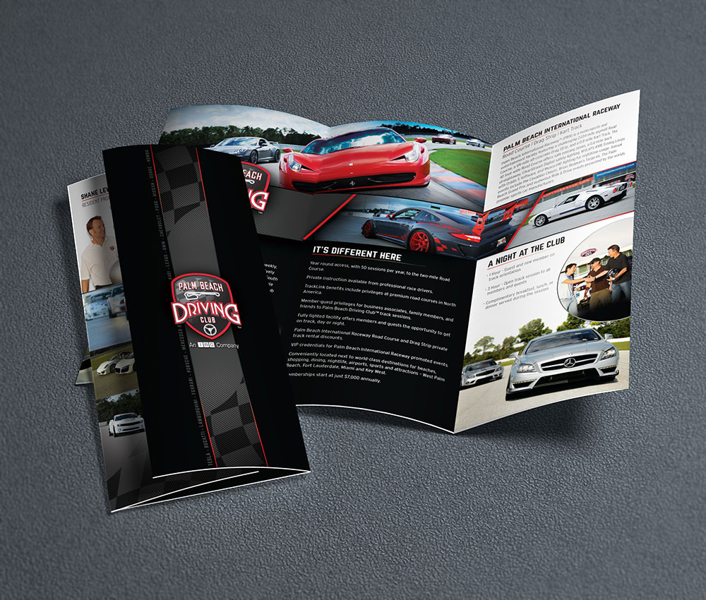 Trifold Palm Beach Driving Club - by Projekt Group Marketing