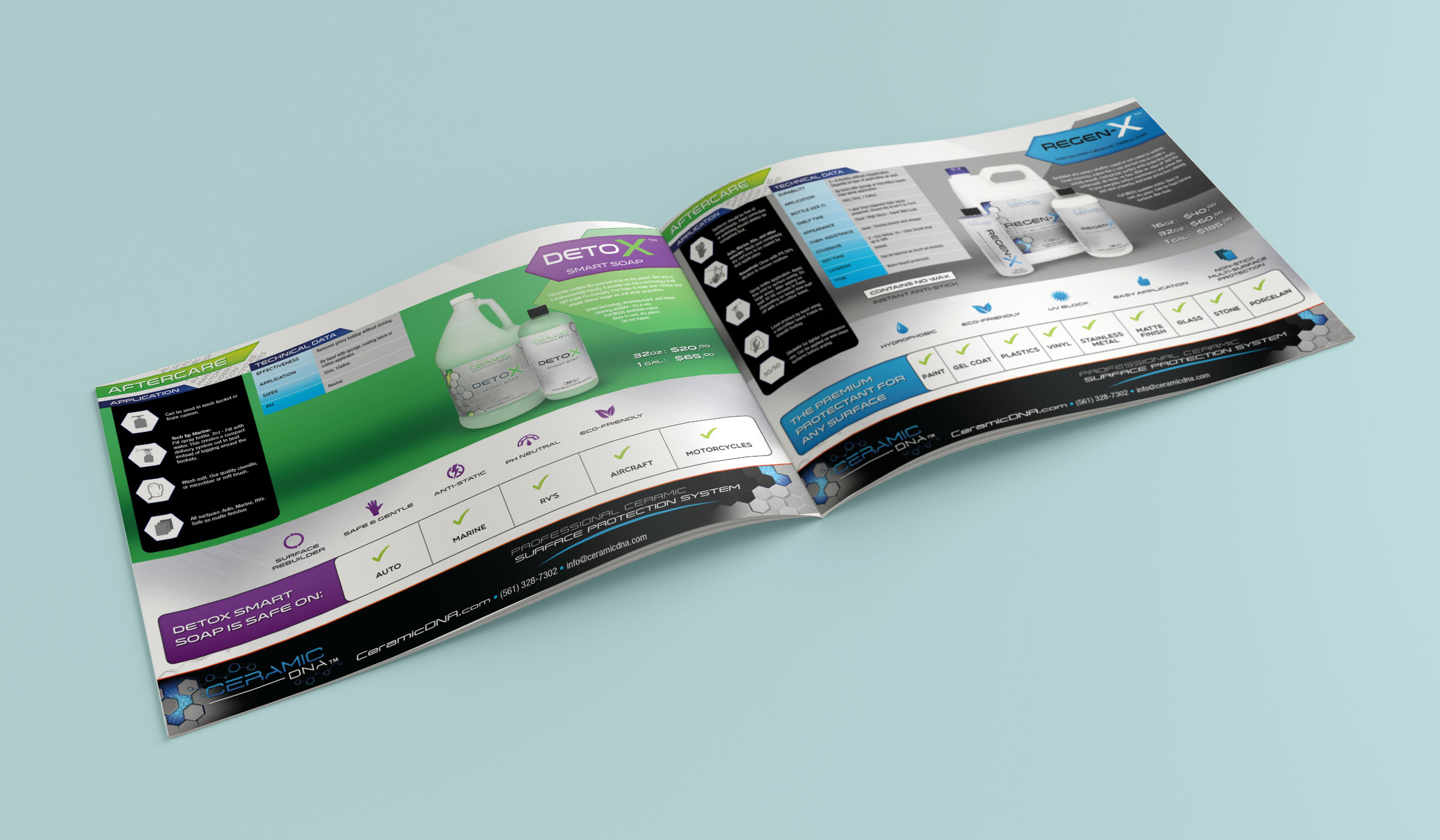 Ceramic DNA produc catalog - design by Projekt Group Marketing and Creative