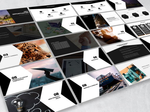 "Deck / Presentation template – ""Opportunities"" theme"