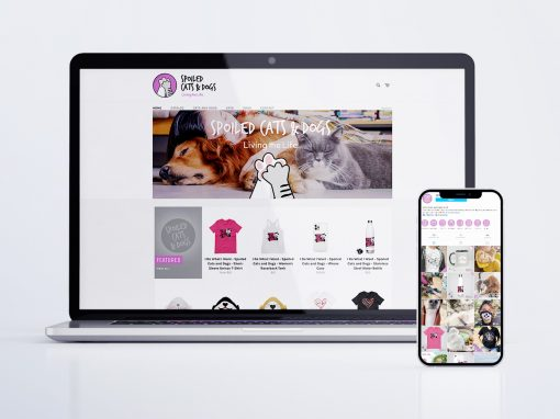 Web Design / E-commerce, Social Media – Spoiled Cats and Dogs