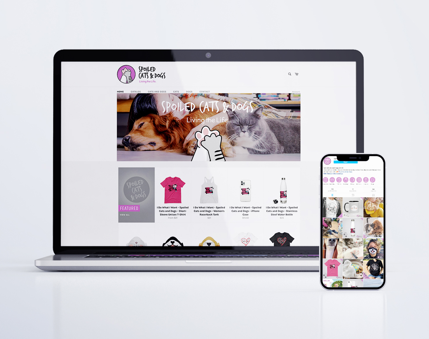 Projekt Group Branding - Spoiled Cats And Dogs - Web Design, E-commerce