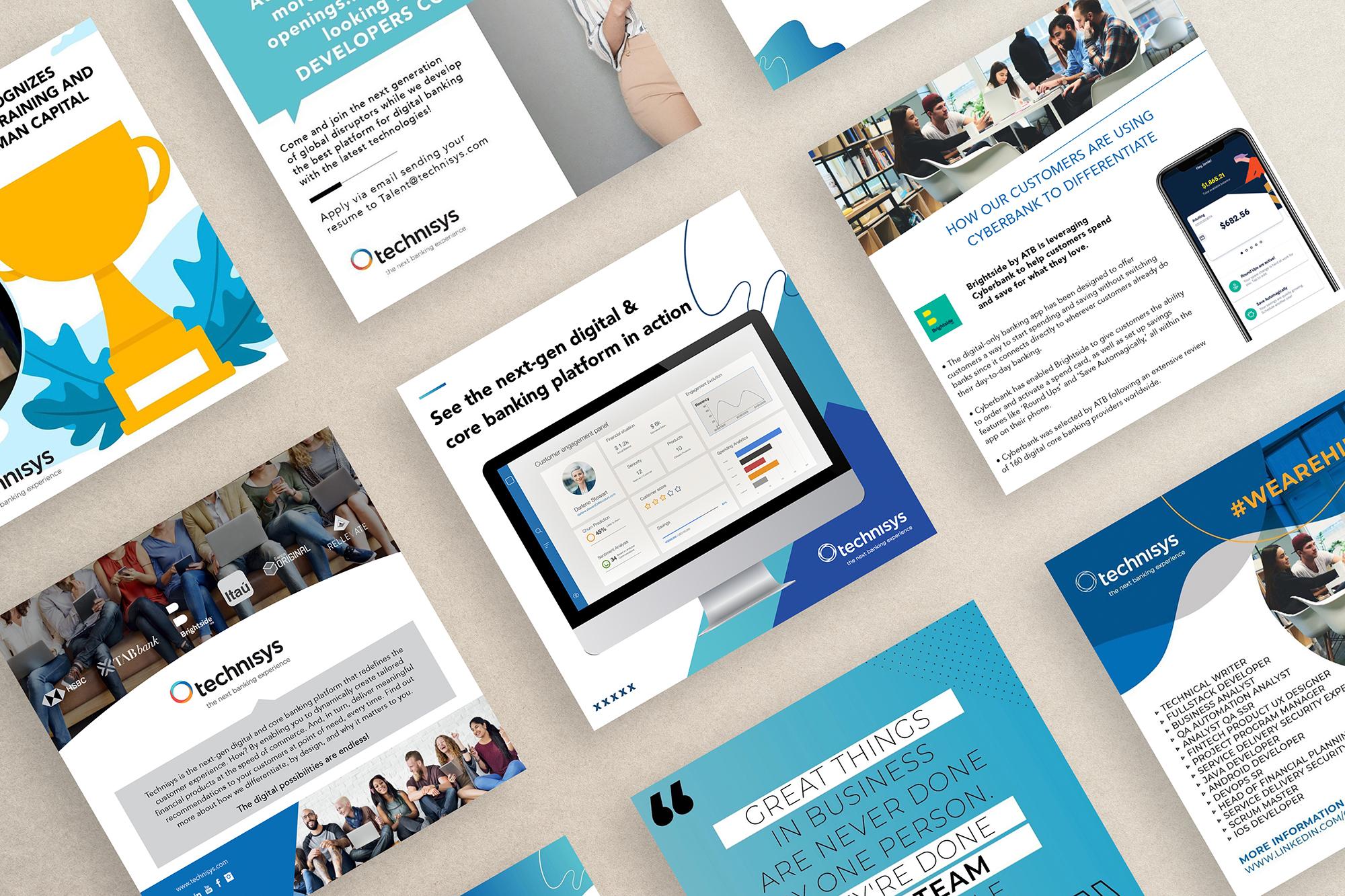Projekt Group Branding - Technisys - Social Media Designs