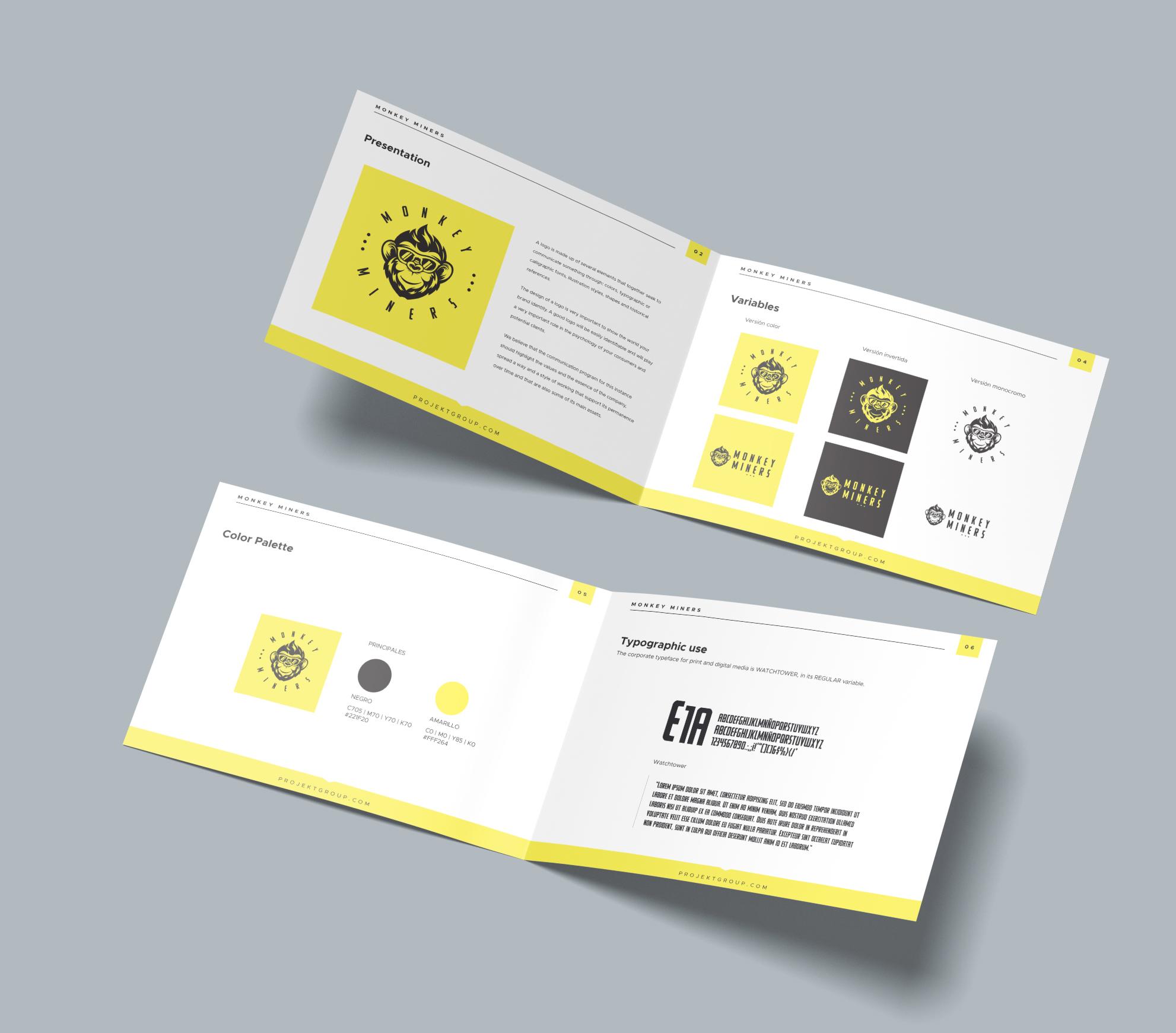 Projekt Group Branding -  Logotype and Branding Manual - Branding Guide